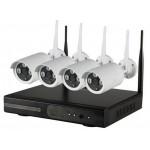 1MP 4 Wi-Fi IP kamerų komplektas NK9504W