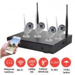 2MP 4 Wi-Fi IP kamerų komplektas 2004A