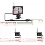 """Belaidis komplektas LCD 7"""" ekranas su 2 kameromis"""