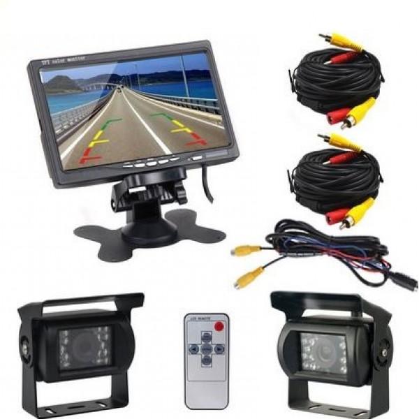 "Komplektas LCD 7"" ekranas su 2 kameromis"