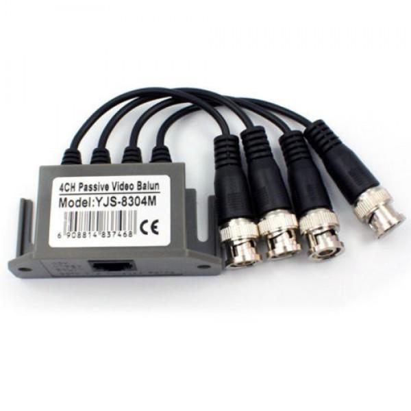 4 kanalų  vaizdo šakotuvas per UTP kabelį